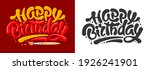 happy birthday letters design... | Shutterstock .eps vector #1926241901