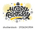 happy birthday festive design.... | Shutterstock .eps vector #1926241904