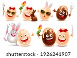 easter eggs vector realistic... | Shutterstock .eps vector #1926241907