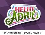 vector lettering hello april ... | Shutterstock .eps vector #1926270257