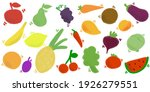 set of vector colorful food ... | Shutterstock .eps vector #1926279551