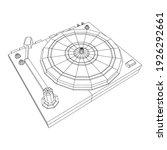 vinyl turntable audio device.... | Shutterstock .eps vector #1926292661