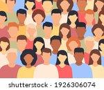 diverse people standing... | Shutterstock .eps vector #1926306074