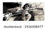 afro american jazz guitarist... | Shutterstock .eps vector #1926308477