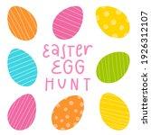 easter egg design set. flat...   Shutterstock .eps vector #1926312107