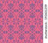 seamless wrought iron inspired... | Shutterstock .eps vector #192631259