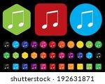 music note button | Shutterstock .eps vector #192631871
