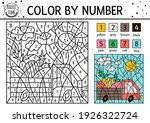 vector easter color by number...   Shutterstock .eps vector #1926322724