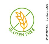 gluten free icon with grain or... | Shutterstock .eps vector #1926332201