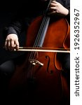 Small photo of Cello player or cellist performing
