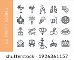 party  birthday icons. set of... | Shutterstock .eps vector #1926361157