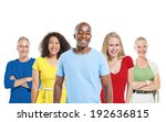 multi ethnic group of people | Shutterstock . vector #192636815