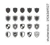 shield black vector icon set.... | Shutterstock .eps vector #1926369527