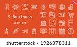 5 business icon set. line icon...