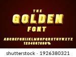 golden font set collection ... | Shutterstock .eps vector #1926380321