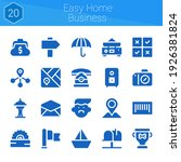 easy home business icon set. 20 ...