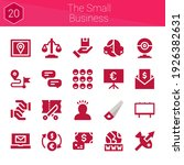 the small business icon set. 20 ...