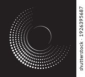 halftone dots in circle form.... | Shutterstock .eps vector #1926395687