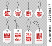 realistic price tags collection.... | Shutterstock .eps vector #1926406847