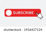 subscribe red button with hand... | Shutterstock .eps vector #1926427124