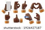 black hands gestures 3d cartoon ...