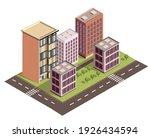 isometric city vector.smart...   Shutterstock .eps vector #1926434594