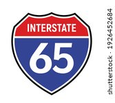 65 route sign icon. vector road ...   Shutterstock .eps vector #1926452684