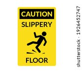 wet floor sign. safety yellow... | Shutterstock .eps vector #1926452747