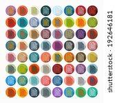 it is a flat design in modern... | Shutterstock .eps vector #192646181