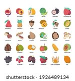 set of fruit thin line and...   Shutterstock .eps vector #1926489134