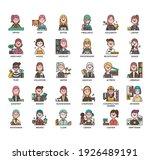 occupation set2 women  thin...   Shutterstock .eps vector #1926489191