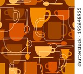 seamless pattern with coffee... | Shutterstock .eps vector #192648935