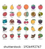set of fruit thin line and... | Shutterstock .eps vector #1926492767