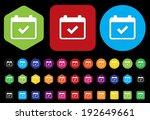 calendar icon | Shutterstock . vector #192649661