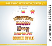 set of various graphic styles... | Shutterstock .eps vector #192650111