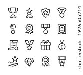 awards icons. vector line icons.... | Shutterstock .eps vector #1926505214