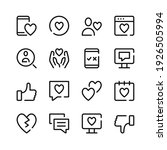 dating icons. vector line icons....   Shutterstock .eps vector #1926505994