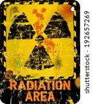 radiation warning  vector... | Shutterstock .eps vector #192657269