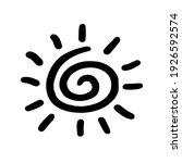 sun hand drawn symbol. sun icon ...   Shutterstock .eps vector #1926592574
