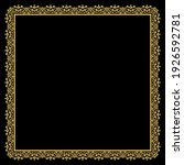 decorative frame elegant vector ... | Shutterstock .eps vector #1926592781