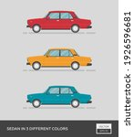urban vehicle. sedan in 3... | Shutterstock .eps vector #1926596681