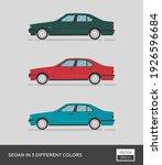 urban vehicle. sedan in 3... | Shutterstock .eps vector #1926596684