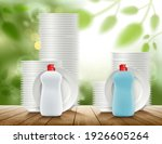 two comparable detergent... | Shutterstock .eps vector #1926605264