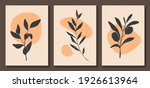 set of abstract floral posters. ...   Shutterstock .eps vector #1926613964
