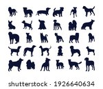 set of silhouettes of different ... | Shutterstock .eps vector #1926640634