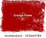 grunge frame. vector template | Shutterstock .eps vector #192664784