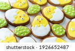 Easter Background With Funny...