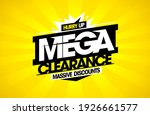 mega clearance  massive... | Shutterstock .eps vector #1926661577