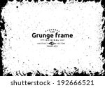abstract grunge splash frame. ... | Shutterstock .eps vector #192666521