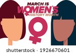 women's history month.... | Shutterstock .eps vector #1926670601